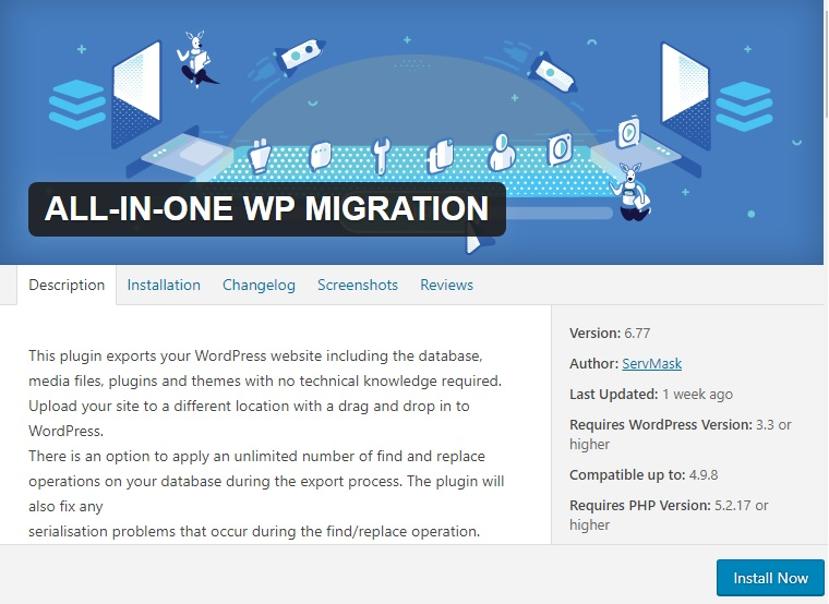 All in one migration