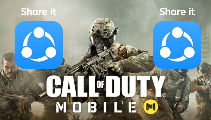 how to share call of duty mobile through share it